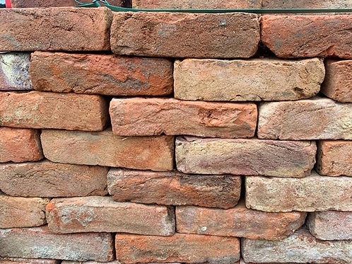 Reclaimed red bricks