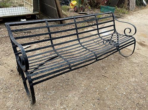 Georgian metal strap bench
