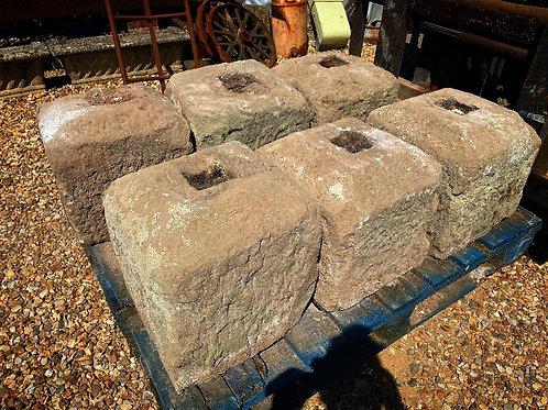 Stone staddle plinths