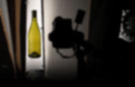 Studio photo de bouteille de vin