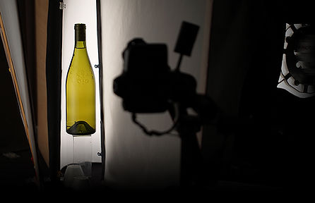 Studio photo de bouteille de vin