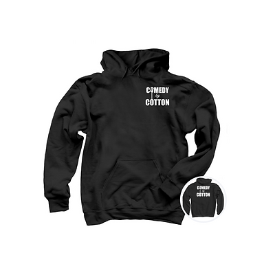 Comedy by Cotton Black Hoodie