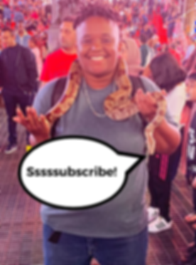 Subscribe photo with pet snake