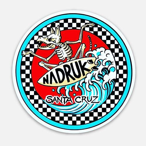 "Nadruk Surf Decal 3""X 3"""