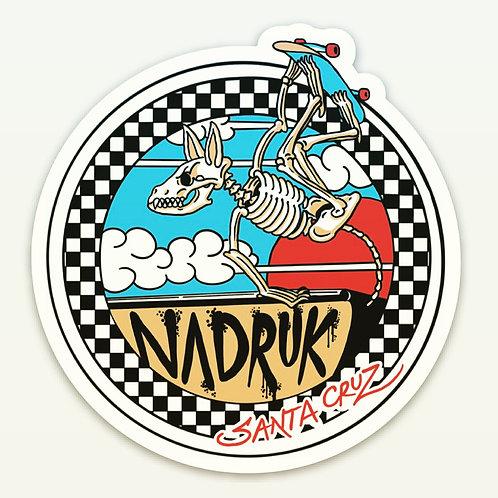 "Nadruk Skate Decal, 3""X 3"""