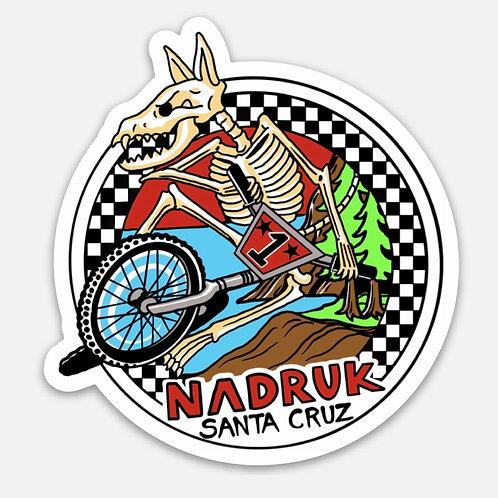 "Nadruk BMX Decal 3""X 3"""