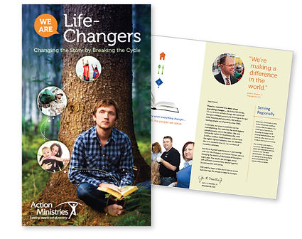 AM's Life Changer's brochure. We are making a differnce in the world.