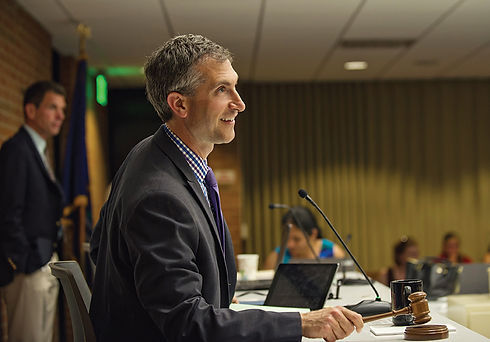 Mayor Christopher Taylor in City Council chambers
