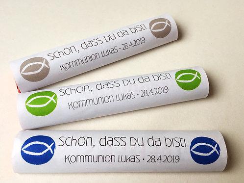 """Banderolen für Schokoriegel, personalisiert """"Fisch"""""""