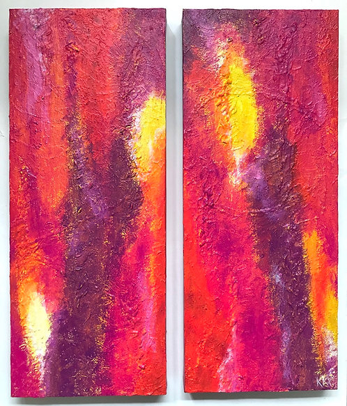 "Acrylbild ""Let your light shine"" 2teiliges Unikat / Originalgemälde"
