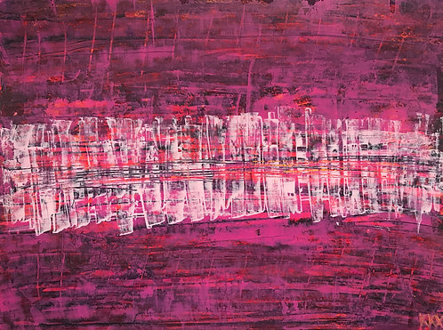 "Acrylbild ""Today I like pink"" Unikat / Originalgemälde"