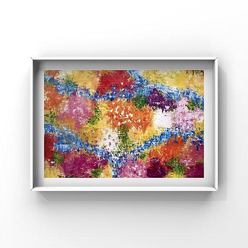 """Kunstdruck Kunstposter Wandkunst DIN A3 """"Der Garten"""""""