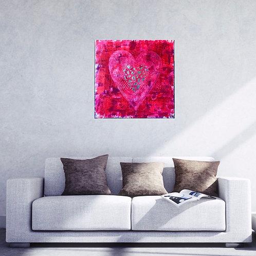 "Acrylbild ""GUARD YOUR HEART"" Unikat Originalgemälde"