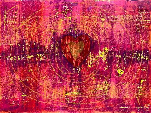 "Acrylbild ""Heartbeat"" Unikat / Originalgemälde"