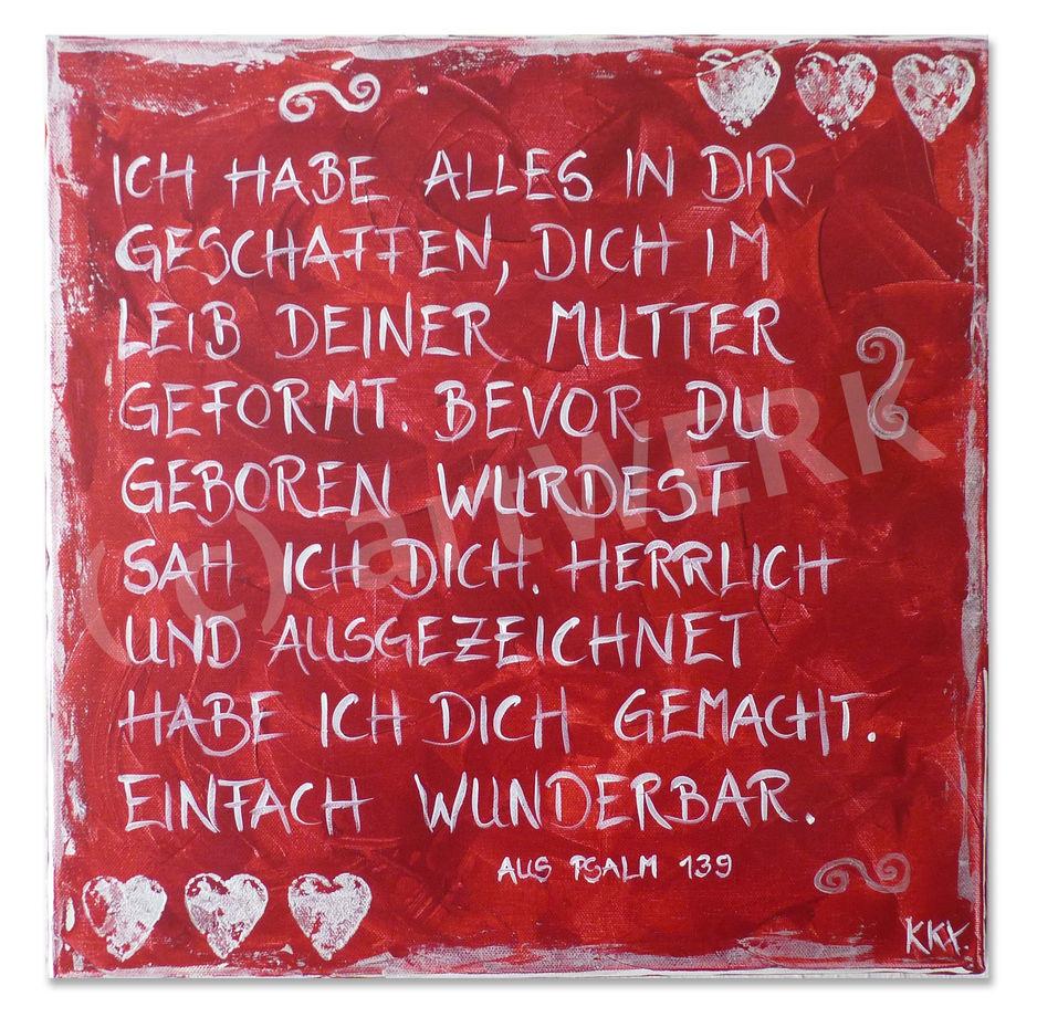 Liebesbrief des Schöpfers / Love letter of the Creator (Psalm 139)