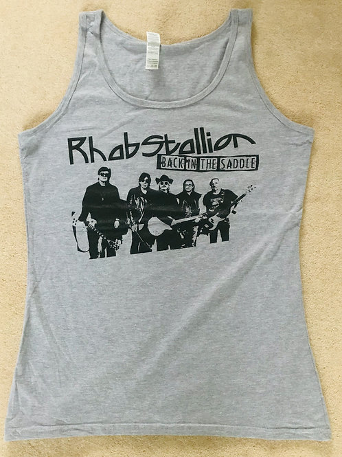 Sports Grey Back in the Saddle Sleeveless Tank Top Female