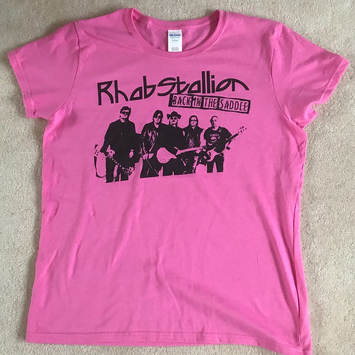 Pink Back in the Saddle crew neck T Shirt Female