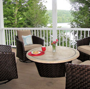 Cup of coffee, cold beverage or your meal overlooking the lake on the lower deck