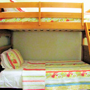 Perfect for sleeping-cozy interior room with bunk bed