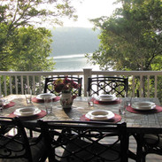 Food always tastes better with a view of the lake