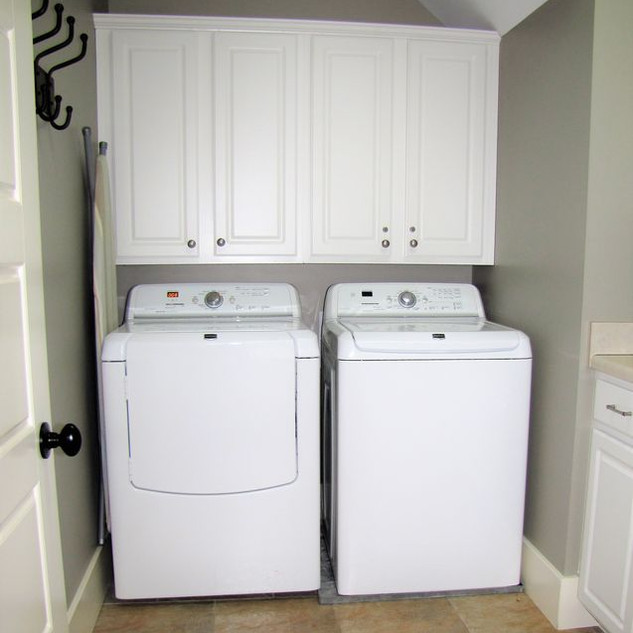 When doing laundry is a necessity, main & lower level laundry facilities