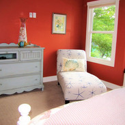Upstairs king bedroom, with full bathroom and a window seat