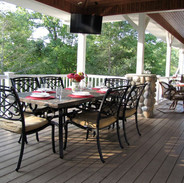 Outdoor dining, lake view and TV- can it get any better...main level