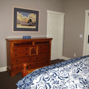 Lower level king bedroom with full bathroom
