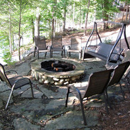 Enjoy a good campfire and s'mores when sitting lakefront