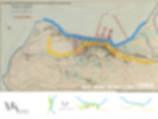 משה כץ אדריכל מפת השראה שלחיפה משנת 1929 שתורגמה וקיבה פרשנות ייחודית ויצירתיות כשכלהאלמנטים החשובים עברו ממצב אופקי לאנכ ויצרו את המתחם מלמטה כשורשים