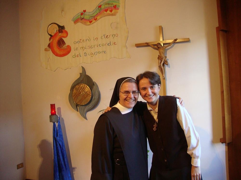 Irena e sr Francesca maestra di formazione