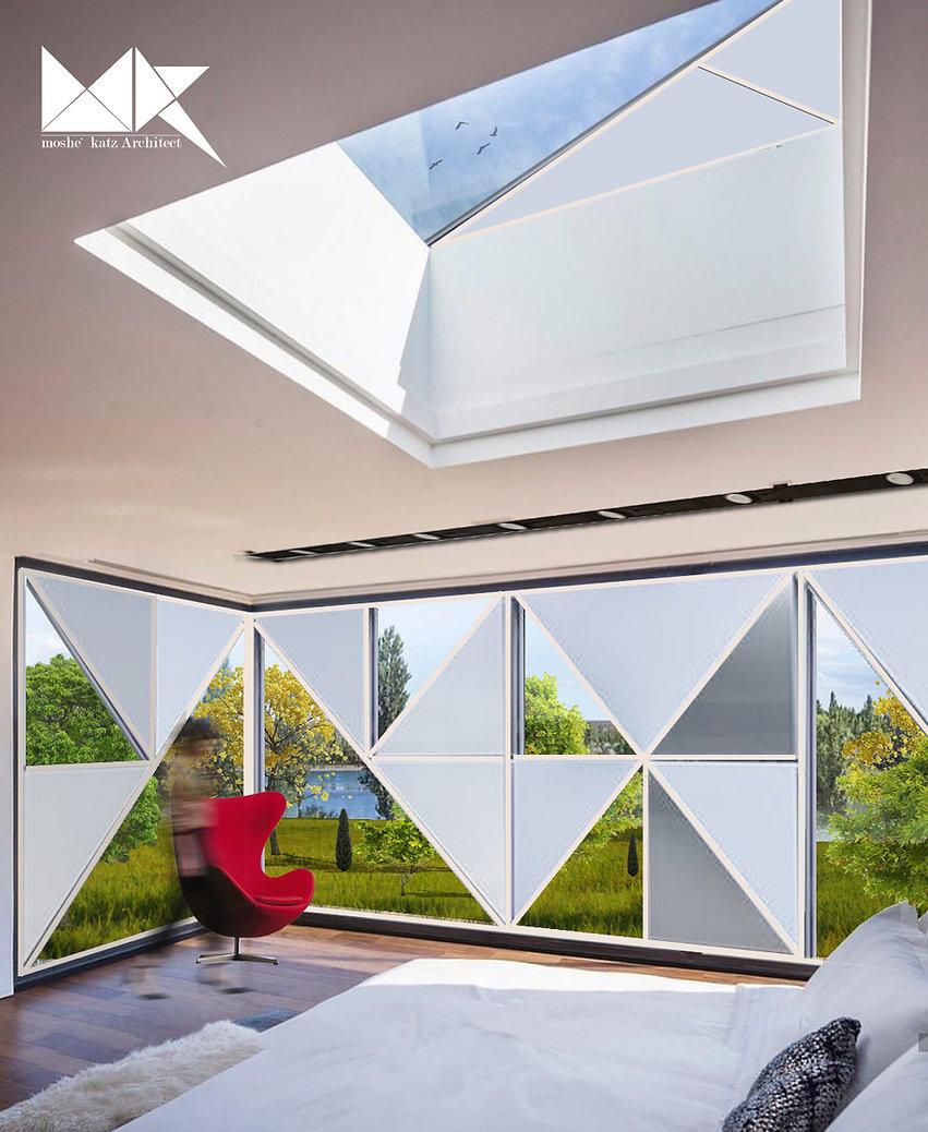 עיצוב פנים חדר שינה בית פרטי וילה הרצליה משה כץ אדריכל