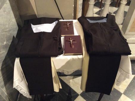 Professione religiosa di sr. Sara della Trinità e sr. Chiara di Cristo