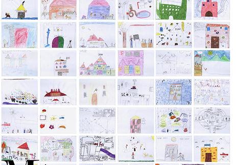 משה כץ אדריכל ציורי ילדם כהשראה לתכון בת הספר