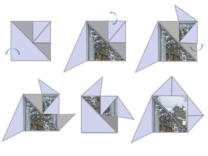 מערכת פתחים דינמיים חלונות ודלתות עיצוב ותכנון משה כץ