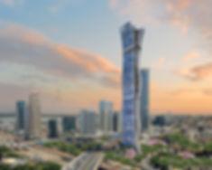 משה כץ אדריכל מגדלבן ערים עצובתכנון מבנה נפתח המציג את העומק של ו בעזרת שברת הקופסה moshe katz architect tower skyscraper ben arim design and plan