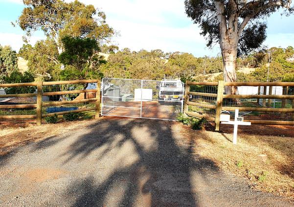 Farm Gate Entrance