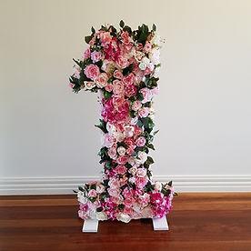 Large floral number 1