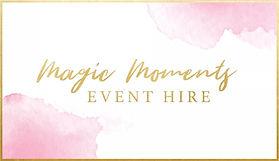 Magic Moments Event Hire Facebook logo w