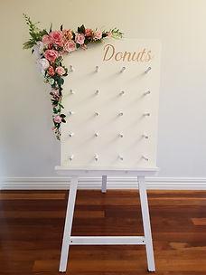 Pink floral donut board