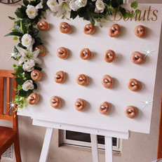 For hire white floral donut board.jpg