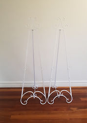 Double white metal easels.jpg