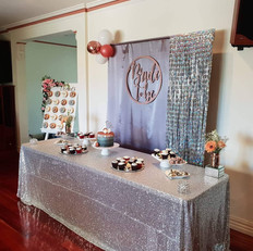 Beautiful bridal shower set up with our