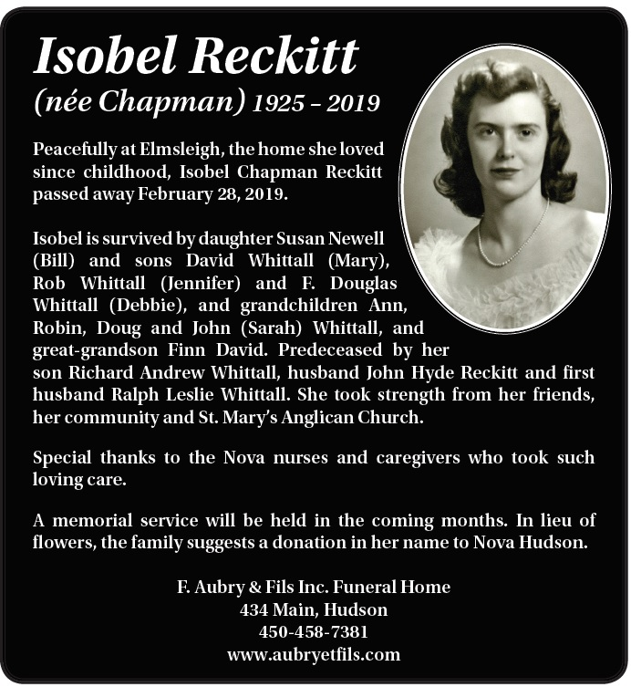 Isobel Reckitt