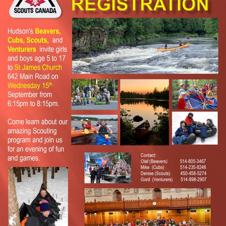 Registration for Scouting