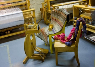 Weaving and embroidery demo