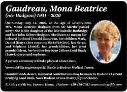 Mona Beatrice Gaudreau