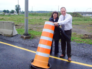 Westbound Exit 41 link to Boulevard des Anciens Combattants officially reopened