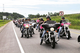 Leather meets feathers in annual Ride de Filles breast cancer fundraiser