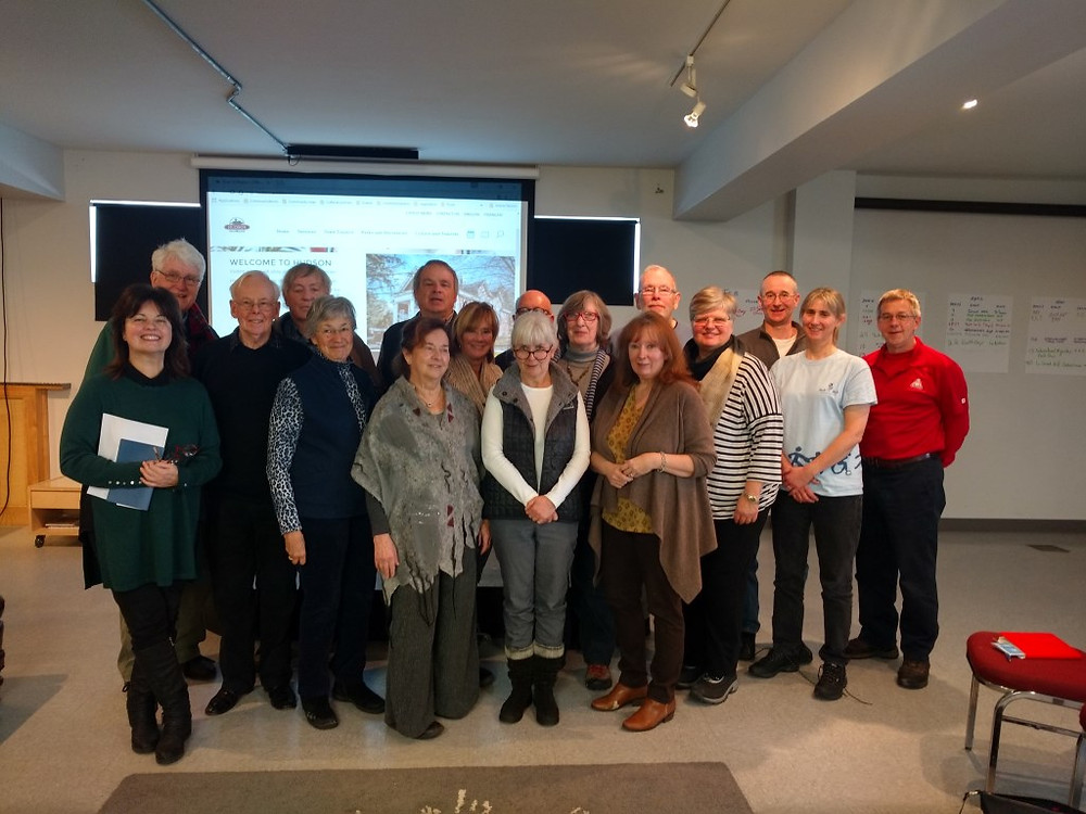 PHOTO COURTESY LAURA MCCAFFREY Representatives of 20 Hudson-based arts and cultural groups met recently with a view to becoming much more coordinated in planning their 2017 schedule of events in the community.